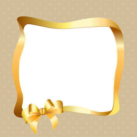 gold circle: Background pattern gold circle frame bow vector