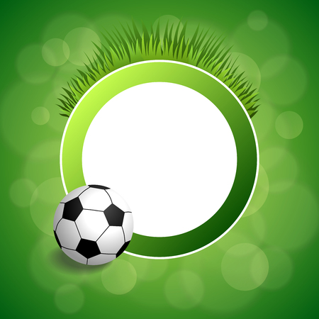 circle objects: Background abstract green football soccer ball circle frame illustration vector
