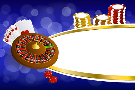 craps: Background abstract blue gold casino roulette cards chips craps illustration vector Illustration