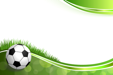 Background abstract green football soccer sport ball illustration vector