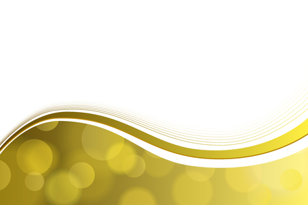 Background abstract yellow gold circle lines wave vector Vettoriali
