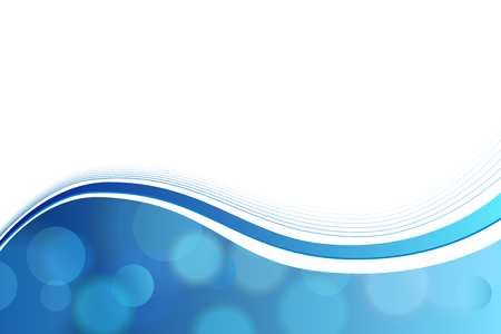 Background abstract blue circle lines wave vector