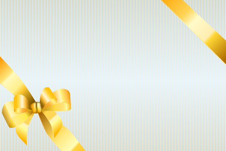 gold bow: Background abstract beige strips pattern with gold bow vector