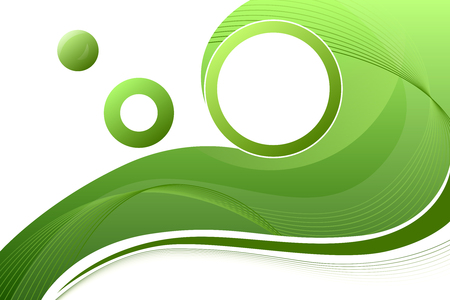 Green circle frame abstract background Illustration