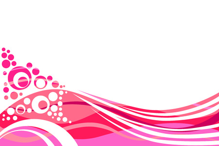 abstract swirls: Pink and red lines and circles abstract background vector