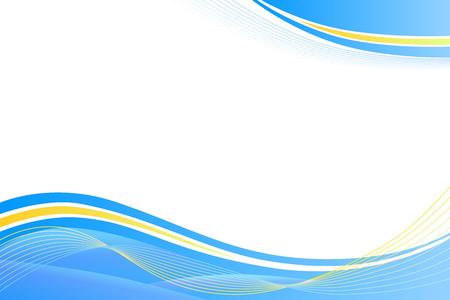 Blau, gelb, abstrakten Hintergrund Linien Wellen