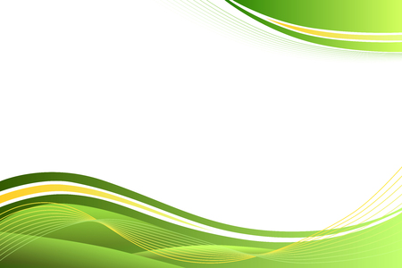 Green yellow abstract background lines waves Stock Illustratie