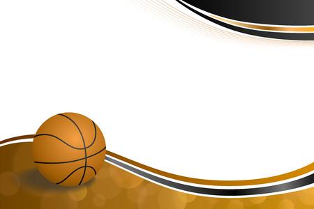 背景抽象オレンジ黒のスポーツ バスケット ボール イラスト