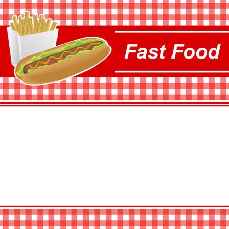 abstract food: Background abstract with fast food Illustration