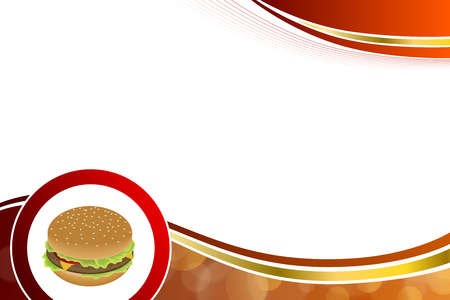 jaune rouge: Abstract background food hamburger red yellow gold illustration