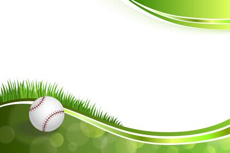 baseball cartoon: Background abstract green baseball ball illustration
