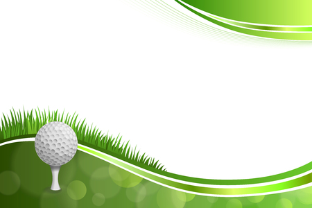 Background abstract green golf sport white ball illustration vector Illustration