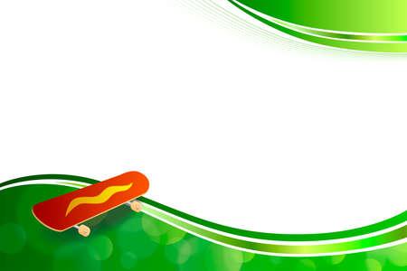 jaune rouge: Fond abstrait vert de planche � roulettes rouge Illustrations cadre jaune