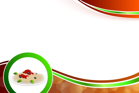 italy background: Abstract background food pasta white Italy green red yellow illustration vector Illustration