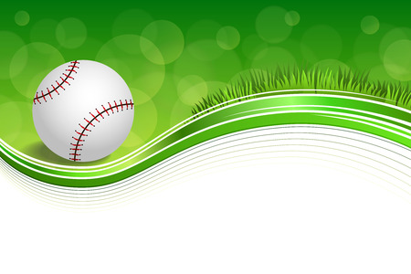 Background abstract green grass baseball ball frame illustration