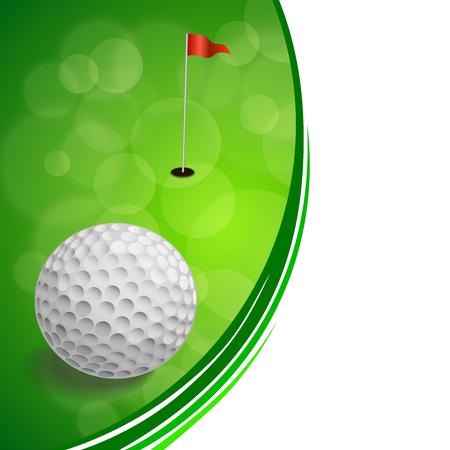 Background abstract golf sport green red flag white ball frame illustration vector