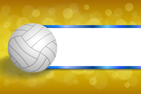 Background abstract volleyball blue yellow ball strips frame illustration vector