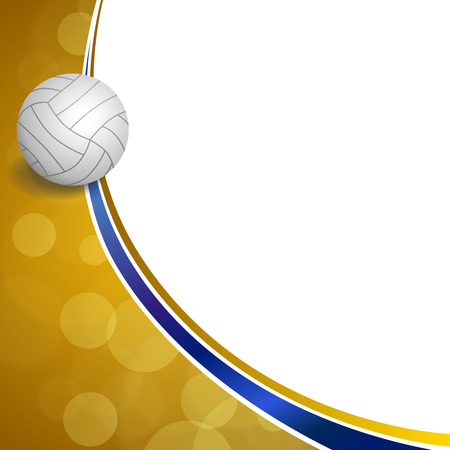 Background abstract sport volleyball blue yellow ball frame illustration vector