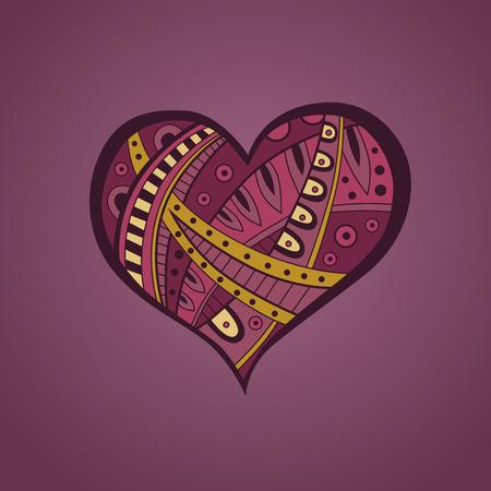 yellow heart: Abstract pink yellow heart pattern illustration vector