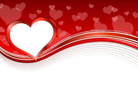 Achtergrond abstracte rood hart frame illustratie vector