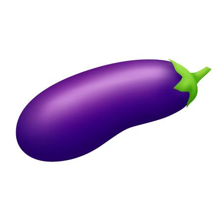 violet: Eggplant violet vegetable isolated illustration Illustration