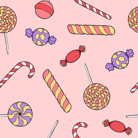 alfa: Candy graphic art color seamless pattern illustration vector Illustration