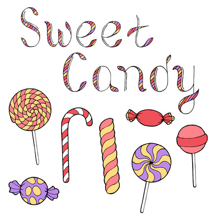 alfa: Candy graphic art color isolated set illustration vector Illustration