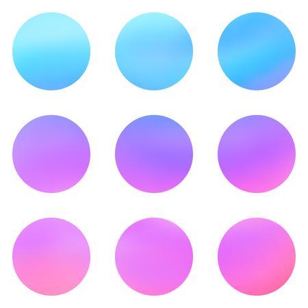 alfa: Abstract pink blue violet color circle gradient blur background illustration vector