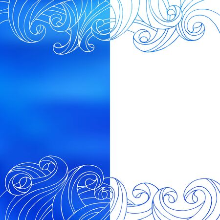 alfa: Blue white waves abstract background illustration vector