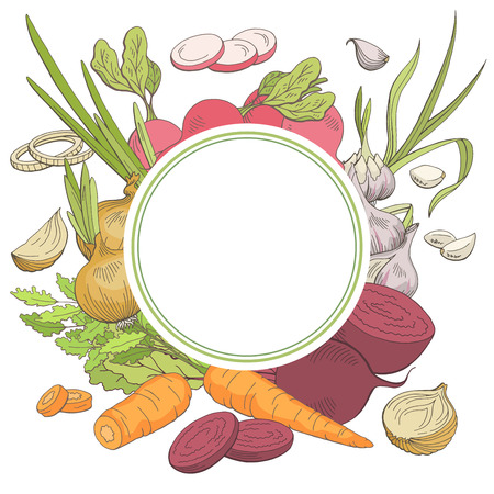 Vegetable graphic color pattern background sketch illustration vector