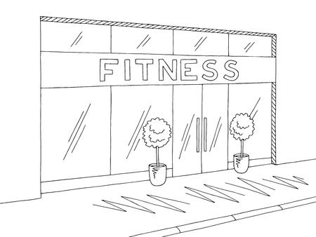 Gymnastic graphic black white sketch illustration vector