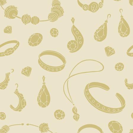 Vector de ilustración de dibujo de joya color beige gráfico de patrones sin fisuras fondo Ilustración de vector