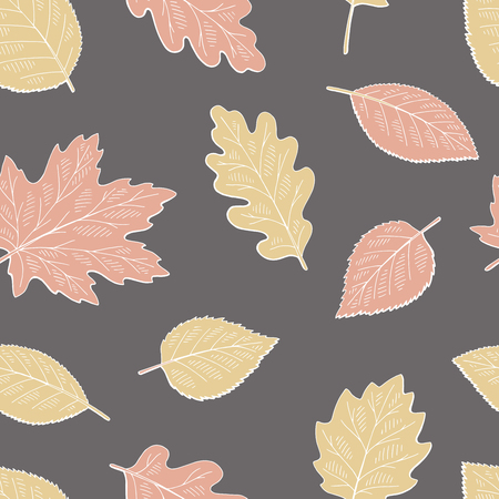 Tree leaf graphic color seamless pattern background sketch illustration vector
