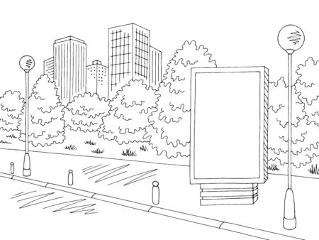 Street road graphic black sketch illustration vector