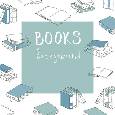 Books graphic color pattern background sketch illustration vector