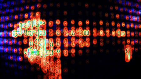 vj: Abstract digital technology data forms
