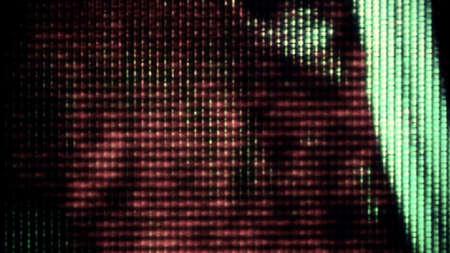0735 Résumé formes de données numériques TV de bruit Banque d'images - 30064350