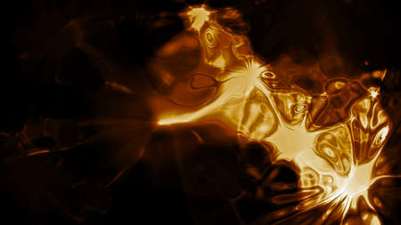 astral: Golden Light 0154  Abstract golden light forms  Stock Photo