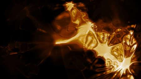 lightbeam: Golden Light 0154  Abstract golden light forms  Stock Photo