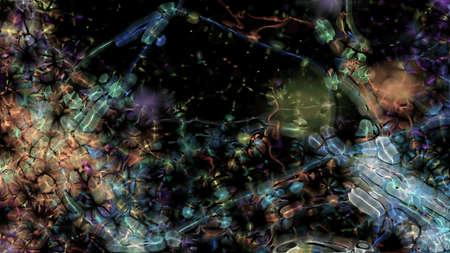 organism: Fractal Organism 0155  Abstract fractal micro organisms