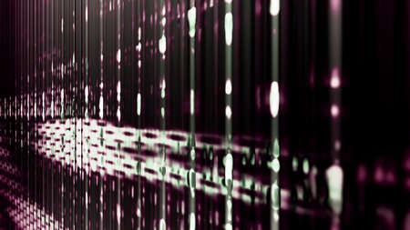 pixelation: Futuristic technology abstraction with digital pixelation and light streaks.