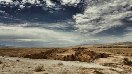 san: The San Andreas Earthquake Fault cracks open the Carrizo Plain.