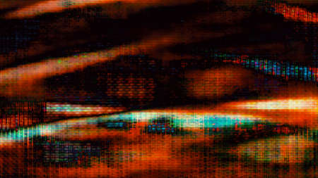 tele up: Futuristic, video screen display pixels creating abstract imagery.