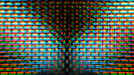 Futuristic, video screen display pixels creating an abstract pattern. Zdjęcie Seryjne - 45138799