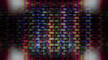 tele up: Futuristic, video screen display pixels creating an abstract pattern.