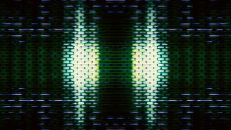 Futuristes, pixels d'affichage de l'écran vidéo en créant un motif abstrait.