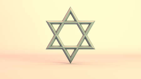 The Star of David on a grad background. 10686 from a series of high resolution worship imagery. Stock Photo