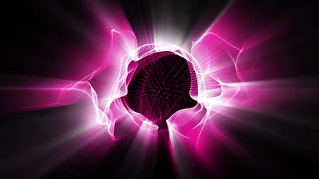 Radial fractal light forms shine. High resolution illustration 10726.