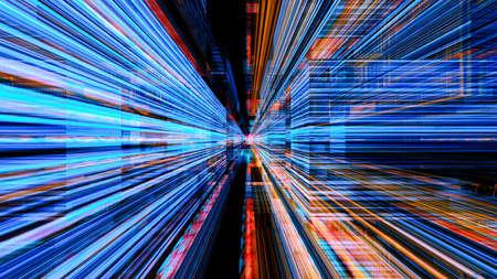 概念的な未来技術デジタル光の抽象化です。高解像度イラスト 10804。