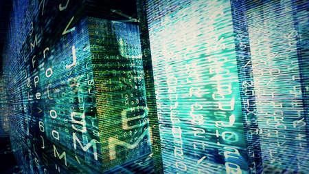 Conceptual futuristic technology digital light abstraction. High resolution illustration 10845. Imagens - 57271353